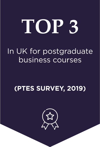 Top 3 in UK for business and administrative courses (PTES 2019)
